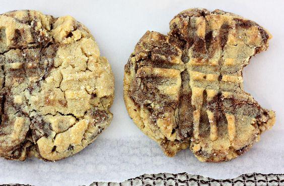Delightful Bitefuls: Peanut Butter & Nutella Swirl Cookies