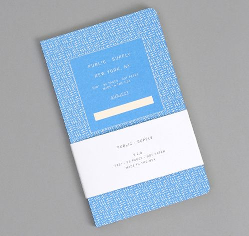 PUBLIC-SUPPLY: Patterned Notebook 02, Blue Wave