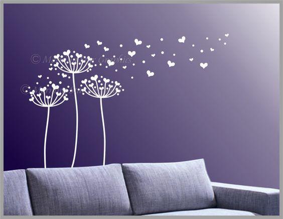He encontrado este interesante anuncio de Etsy en https://www.etsy.com/es/listing/98813425/vinyl-flower-wall-decals-heart-shaped