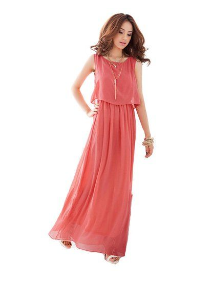 JTC Women Chiffon Boho Pleated Bridesmaid Dress Maxi Long Cocktail Evening Gown Dress $16