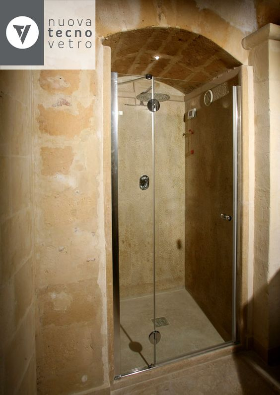 Nuova tecnovetro matera box doccia in vetro temperato - Cabine doccia su misura ...