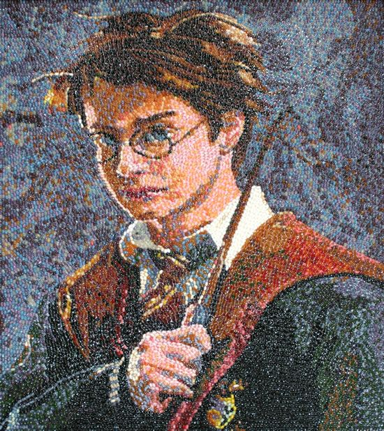 Harry Potter artwork out of Jelly Beans