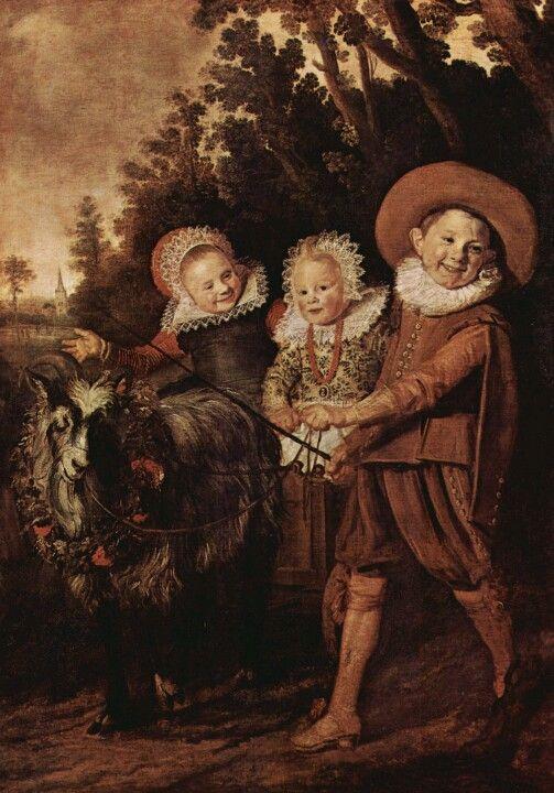Children playing by Dutch Golden age artist Frans Hals:
