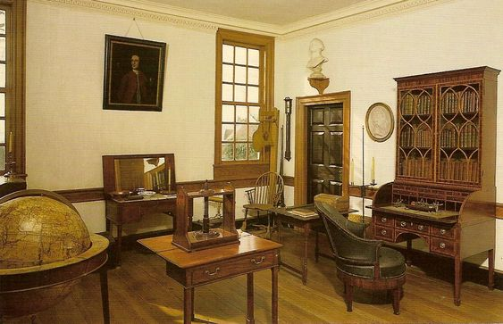 George Washington's plain, businesslike study at Mount Vernon