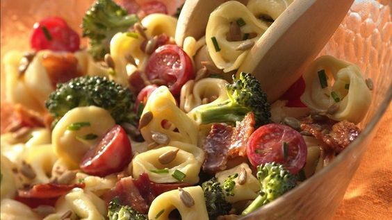 Tender, cheese-filled tortellini puts a flavorful spin on ordinary pasta salad.