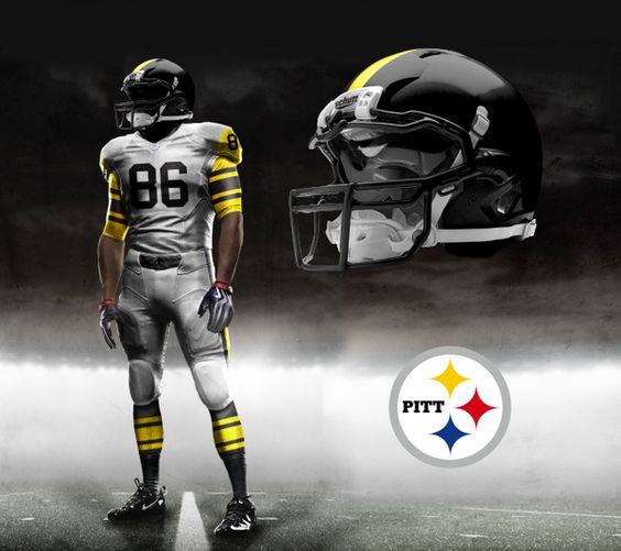 Nike NFL Pro Combat Uniform Concepts by Brandon Moore, via Behance