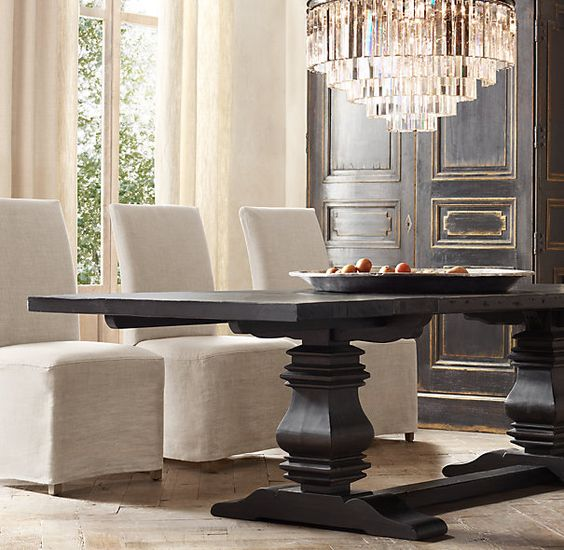 Table and chairs dining room tables and tables on pinterest for Dining room table 60 x 36