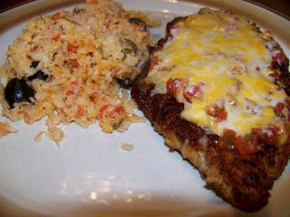 "Ginny's Low Carb Kitchen: Mexican Fried Chicken Breast and ""Rice"""