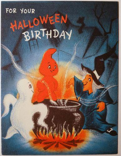 Halloween Birthday Ecards ~ Halloween birthday greeting card and