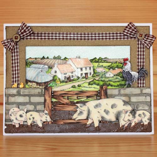 Latest release Introducing CS152D 'On the Farm' designed by the very talented Sharon Bennett. For Hobby Art Stamps.Card by Sally Dodger: