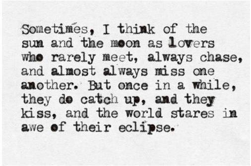 """""""Tell me the story about how the sun loved the moon so much he died every night to let her breathe."""" Yas.. Beautiful"""
