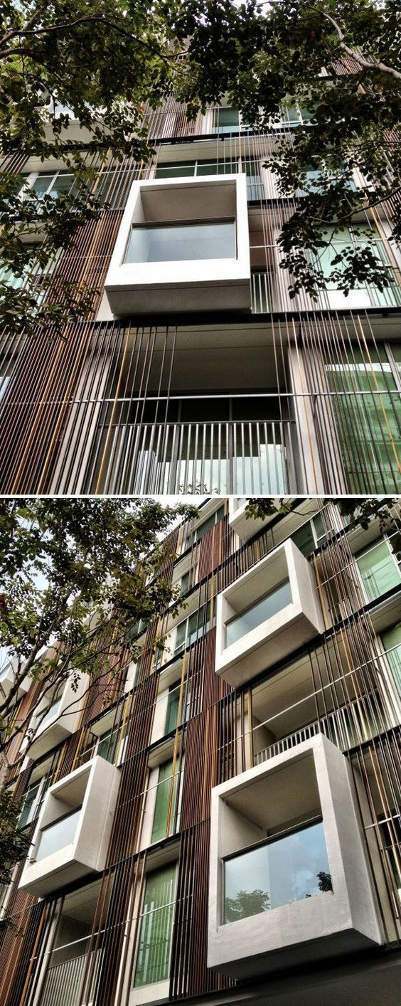 Luxury Condominium With A Facade Made Of Glass Cubes | Glass cube ...