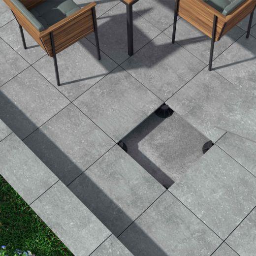 Dalle Sur Plot Exterieur Lastra Gris Antiderapant En 60 X 60 Cm Dalle Sur Plot Terrasse Maison Moderne Carrelage Exterieur Sur Plot