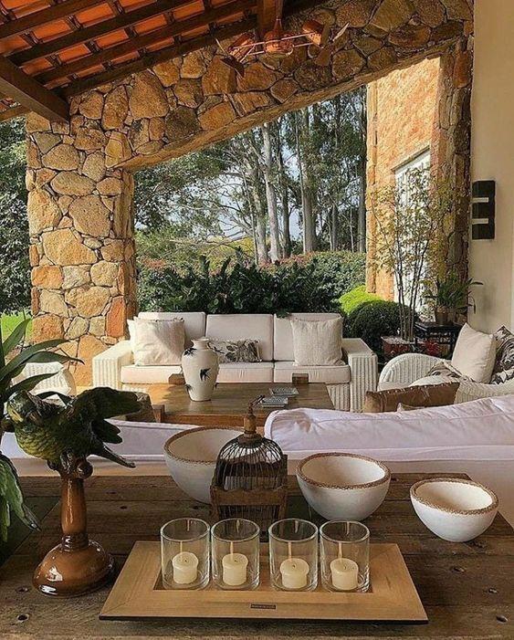 Puffino Mx En 2020 Casas Estilo Campo Porches Rusticos Decoracion De Patio Exterior