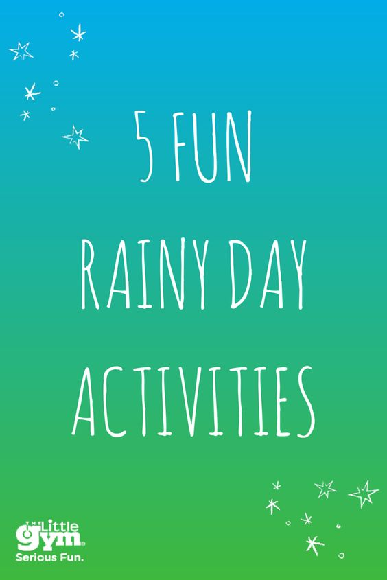 "Rainy days can be the pits. The kid's are stuck inside, and they keep saying ""I'm bored"" every 5 minutes. Check out these 5 fun activities to keep your kids moving when the weather isn't cooperating."
