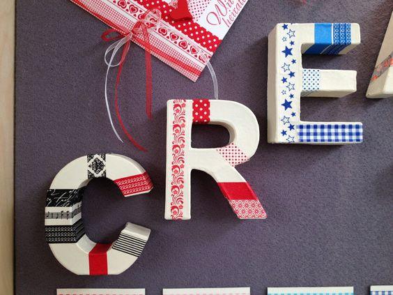 Washi Tape + Letras de Cartão <3 Efco <3