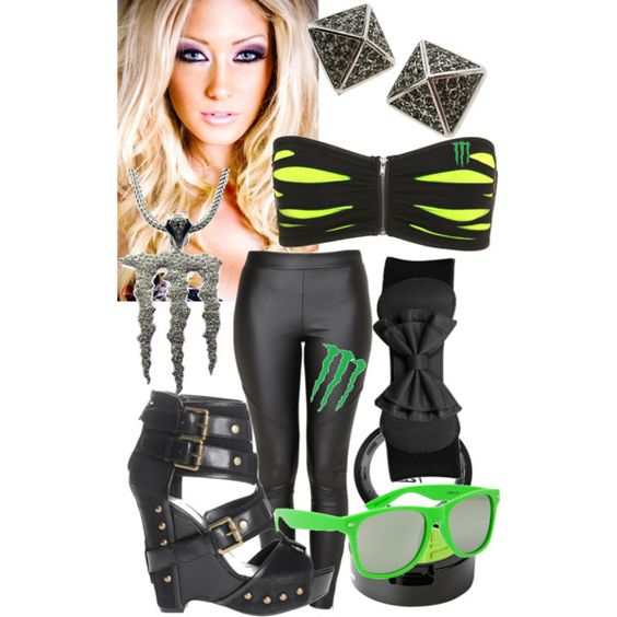 monster energy girl by caycay 22 on polyvore bad ass. Black Bedroom Furniture Sets. Home Design Ideas