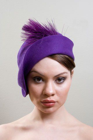 Purple Deco Cloche by ILANA MEILAK #millinery #hats #HatAcademy: