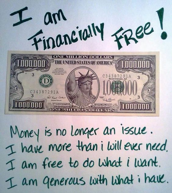I am financially FREE!!