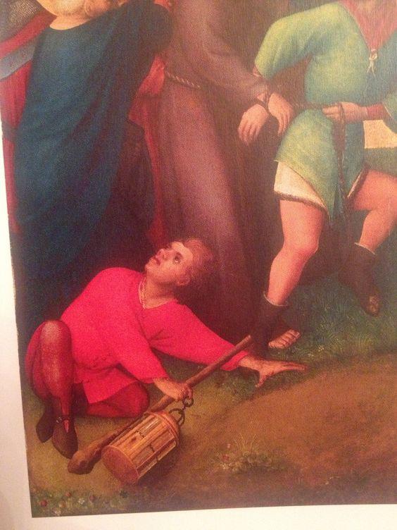 Werkstatt oder Nachfolger des Meisters des Heisterbacher Altar Gefangennahme Christi um 1450 Museum Wiesbaden Wiesbaden