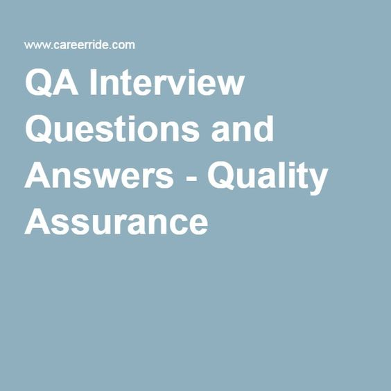 qa interview questions and answers quality assurance english qa pinterest software - Qa Interview Questions And Answers Quality Assurance Interview