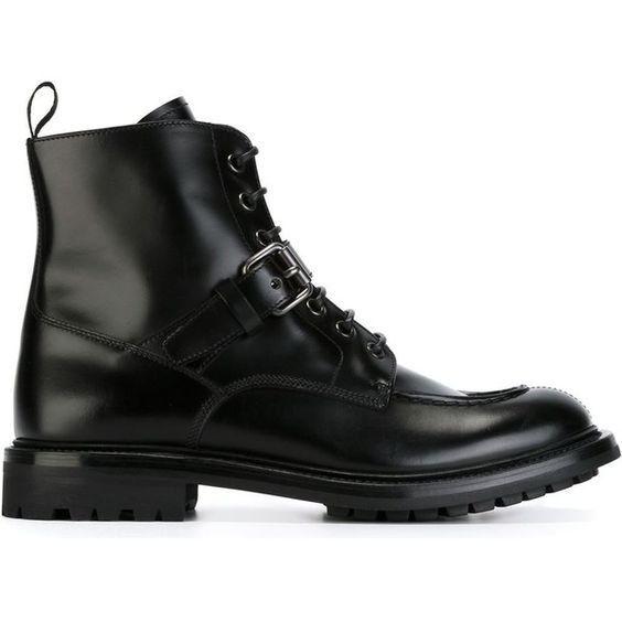 Church's Military Boots ($541) ❤ liked on Polyvore featuring ...