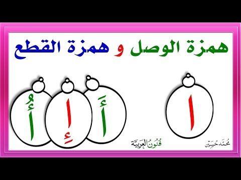 همزة الوصل و همزة القطع شرح مفصل ـ كي تتفوقوا في الإملاء Youtube Teach Arabic Learning Arabic Arabic Language