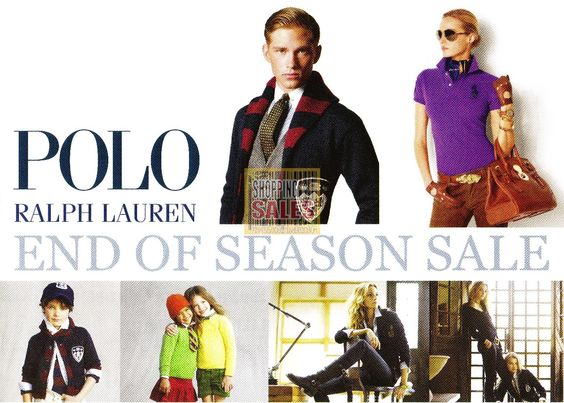 Polo sale advertisement still holds the sophistication of the Ralph Lauren brand image.