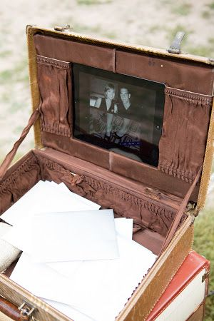 Check out this novel and personal wedding wishing well idea.  #wedding #wishing #well