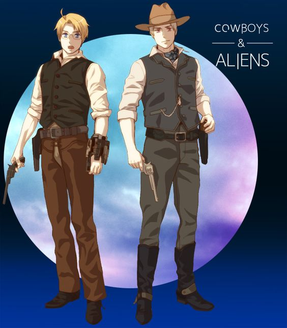 Cowboys & Aliens by 明日香 - Hetalia - America / Prussia