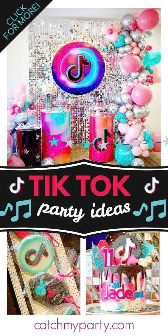 26 Most Popular Girl Birthday Party Themes For 2021 Tiktok Party In 2021 Dance Party Birthday Girls Birthday Party Themes Birthday Party Themes