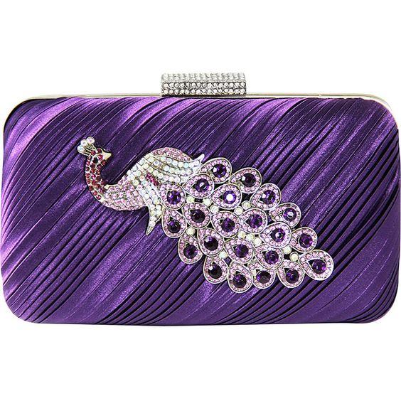 ysl monogram shoulder bag - Jacki Design Peacock Brooch Hardcase Evening Clutch Clutche ($30 ...