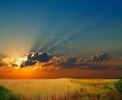 orange sun blue sky - Google Search