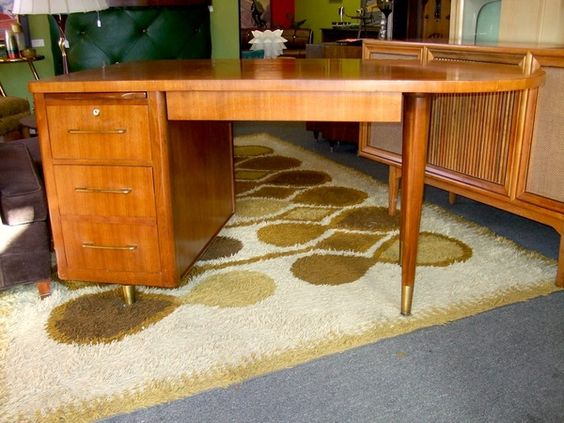 Amazing mid century walnut desk from midmodandmore  $499