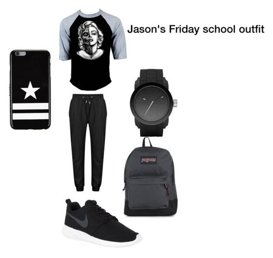 """Jason wilkinson's Friday school outfit "" collide "" wattpad story"" by monsterleahhh ❤ liked on Polyvore featuring NIKE, Diesel, JanSport, Givenchy, men's fashion and menswear"