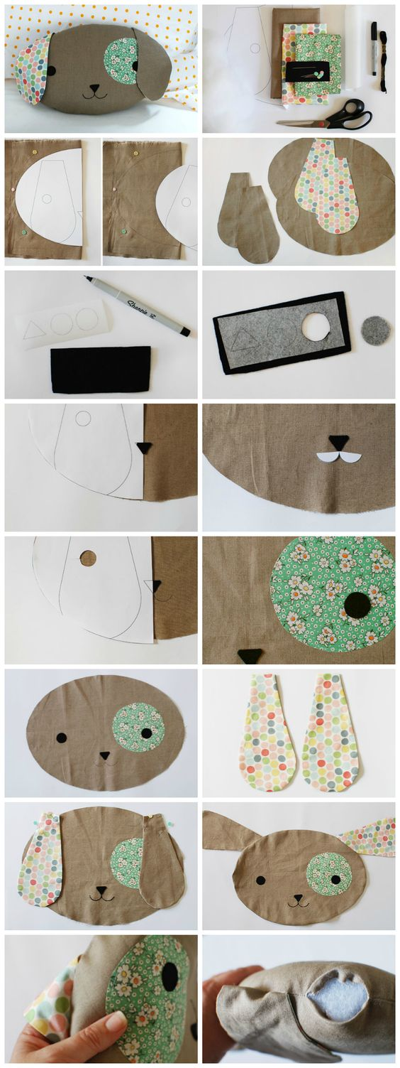 Cute Pillow Ideas To Sew : Dog pillows, Puppys and Dogs on Pinterest