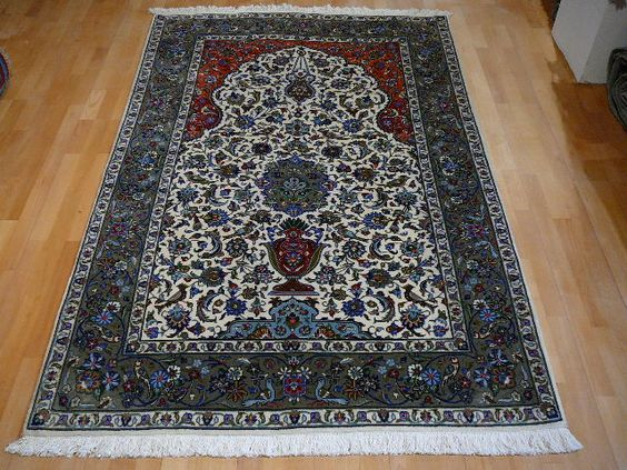 13688 Persian Kashan Kurk rug 7.2 x 4.9 ft