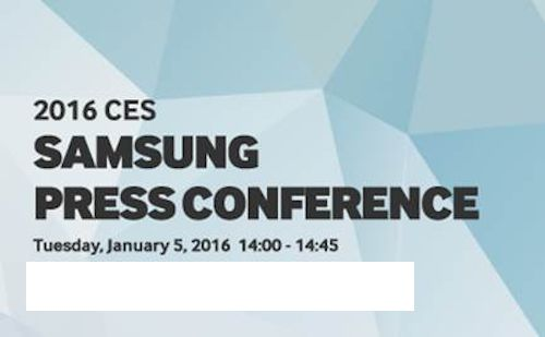 Samsung Sends out Invites for CES 2016 Press Conference