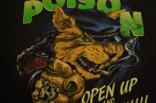 Vintage Poison T-Shirt Open Up and say Ahhh '89