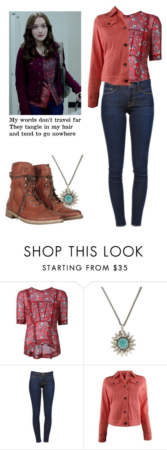 """Emma Decody - Bates Motel"" by shadyannon ❤ liked on Polyvore featuring Veronica Beard, Lucky Brand, Frame Denim, Ralph Lauren and AllSaints"