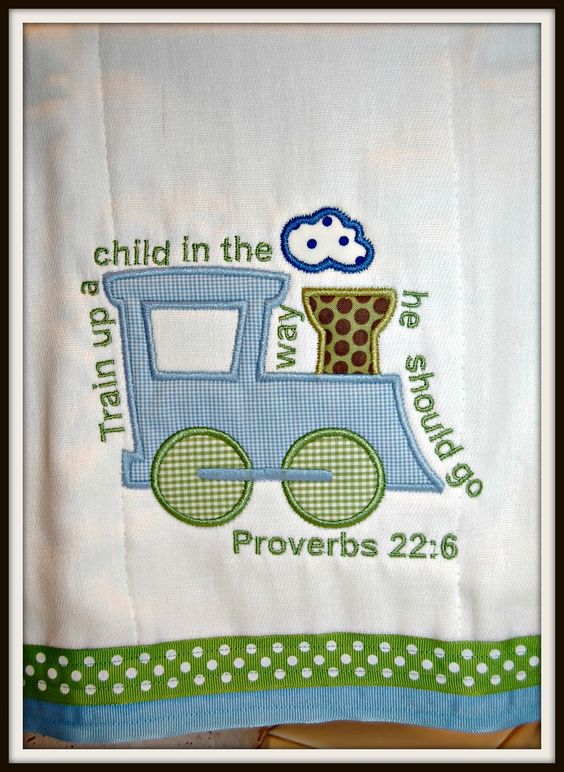 Bella & Bambino: Embroidery  Train up a child in the way he should go.  Proverbs 22:6