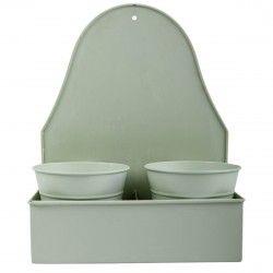 Green metalic pots.