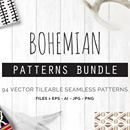 90+ Bohemian Seamless Vector Patterns from You and I Graphics - $19!