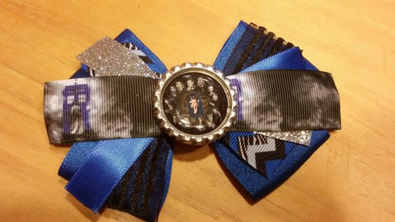 Doctor Who Hair Bow bow 1 by HandGCrafts on Etsy