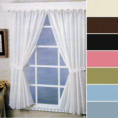 Curtains Ideas 36 wide shower curtain : Carnation Home Fashions Fabric Bathroom Window Curtain, 36-Inch by ...