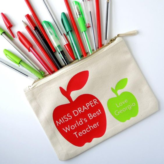 Worlds Best Teacher Personalised Pencil Case