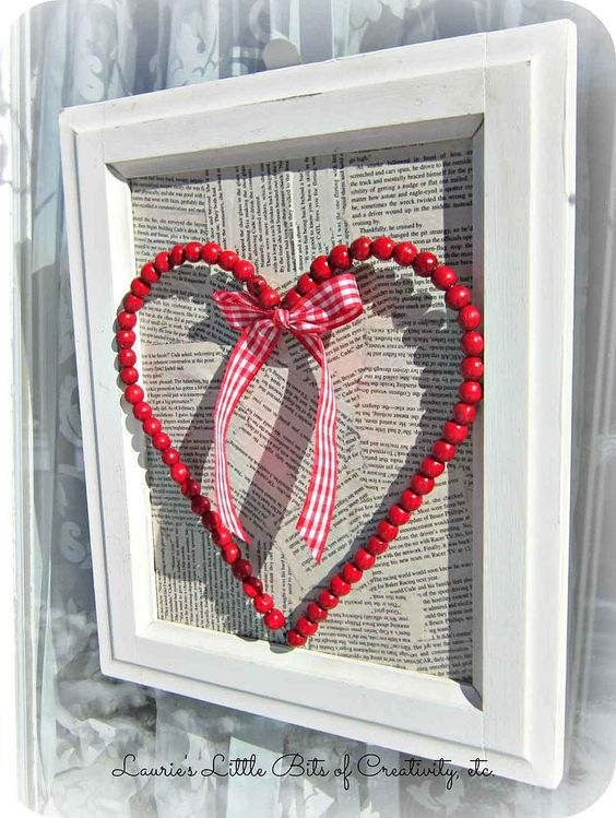 From Christmas Beads To Valentine Wreath