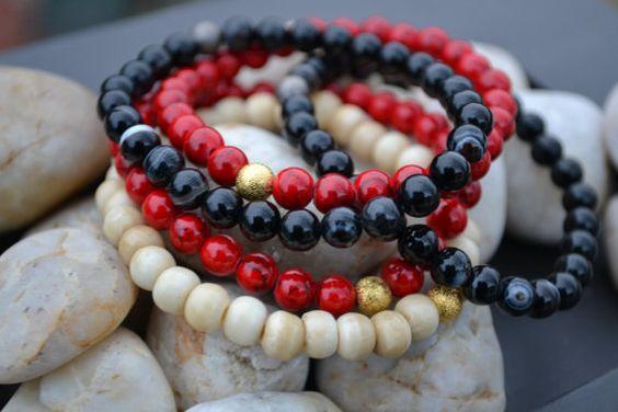 Handmade Beaded Gemstone Bracelet with Accent by TravelTheMundo, $10.00