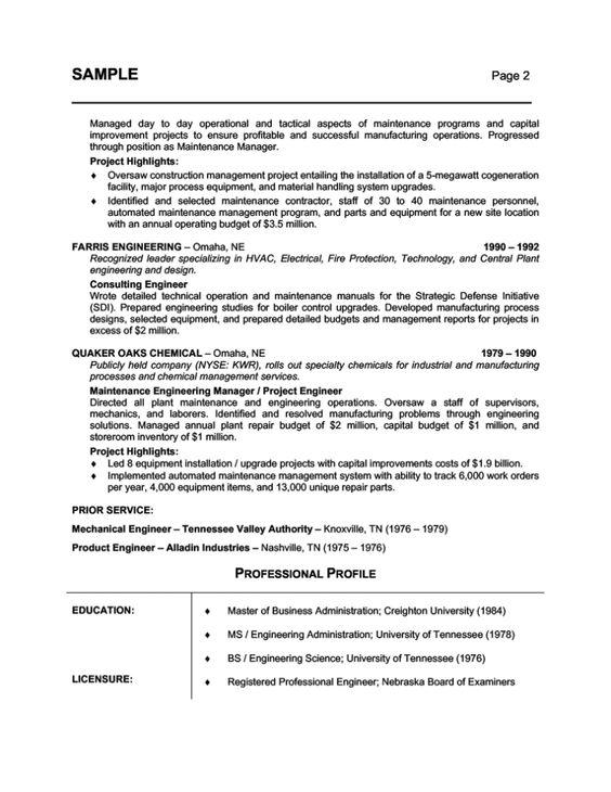 Free Professional Resume Template - http\/\/wwwresumecareerinfo - detailed resume