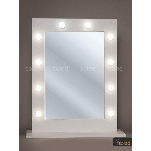Lustro Do Makijazu Led Make Up Stand 80x60cm Led Lighted Bathroom Mirror Mirror
